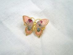 Adorable Vintage Butterfly Brooch by jclairep on Etsy, $4.00