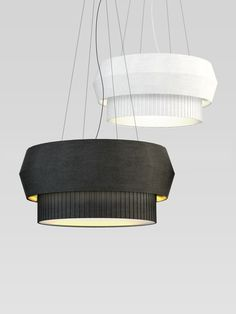"""""""Delta"""" series design lamp in black and white 