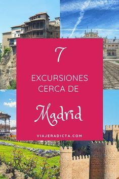 No te pierdas estás 7 excursiones cerca de Madrid. #excursiones #madrid #españa Rv Travel, Places To Travel, Travel Tips, Places To Visit, Travel Around The World, Around The Worlds, Barcelona, To Go, Europe