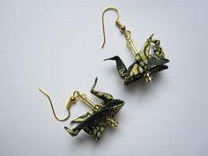 Dragons Origami Earrings http://www.arsorigami.com/