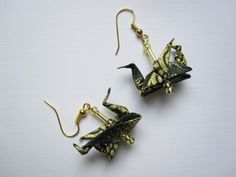 Dragons Origami Earrings http://www.arsorigami.com/