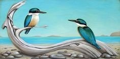 Original paintings and fine art prints by Santie Cronje, depicting life's journeys influenced by her travels, a love for the ocean and mother nature. Ocean Art, Kingfisher, Good Company, Mother Nature, Still Life, Fine Art Prints, Coastal, Original Paintings, Birds