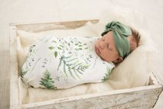 Honey Suckle Baby Wrap Blanket, Baby Swaddle , Birth Announcement, Baby Shower Gift