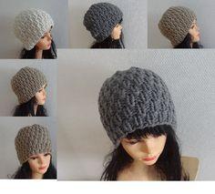 Hand knit  hat Knit women hat BOYS hats Men hat Fall by Ifonka