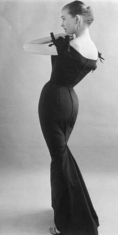 Evening gown, late 50's, early 60s.