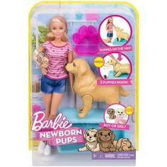 Barbie Newborn Pups Set and Doll – Novelty-Characters