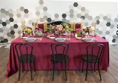 La Tavola Fine Linen Rental: Velvet Pinot | Photography: Studio EMP, Venue: The 1912, Catering: 24 Carrots Catering and Events, Florals: Art with Nature, Details: Delovely Details Inc, Calligraphy: A Fabulous Fete, Tabletop: Casa de Perrin, Furniture: Found Rentals
