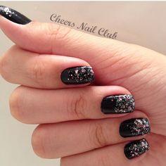 Degrade de Glitter! #nailart #vemprocheers