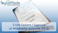 I was up to speak right after Allen Moore, and I actually pulled out my laptop to make changes to my power point presentation before it was my time to speak! http://taylormadewebpresence.com/wordcamp-asheville-2015/