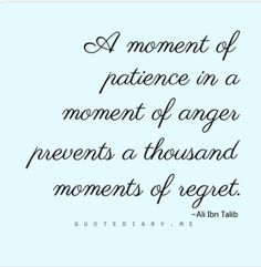 A moment of patience...