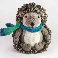 Hedley the hedgehog amigurumi crochet pattern by Janine Holmes at Moji-Moji Design
