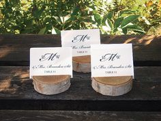 Birch Place Card Holders    Bring in some natural influence with birch tree place card holders.