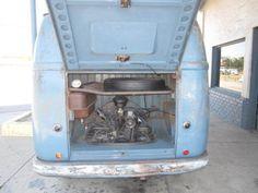 Engine compartment of 1955 VW split window van