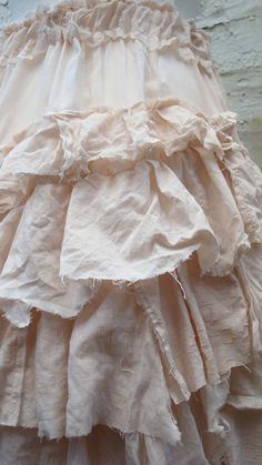 Tea Stained Upcycled Skirt Woman's Clothing by BabaYagaFashion