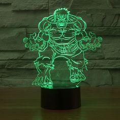 Hulk Colorful 3D LED Lamp