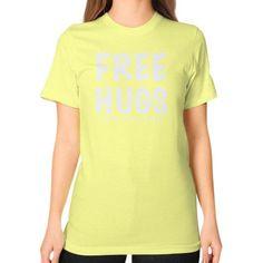 Free Hugs Unisex T-Shirt (on woman)