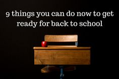 You make the back to school process easier for everyone by taking time to do a few things in the weeks leading up to it. Being organised for the start of the school year helps to get the year off to a calm and less stressed start.