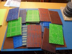 Paste Paper Books 01 by Kevin Hayes, via Flickr