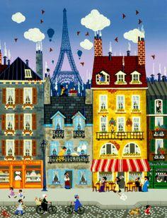 Illustration Arte, Illustrations, Collage Art, Collages, Paris Poster, Jolie Photo, Naive Art, Rock Crafts, Art Festival