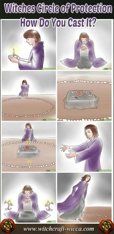 The Witches Circle of Protection marks the perimeter of your sacred space where you will perform your candle magic. Circle acts as a protection from evil forces via @wicca_witchcraft