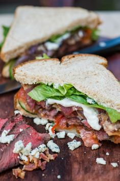 beef ribeye: Steak & Blue Cheese Sandwich