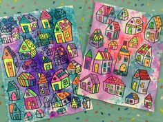 Cassie Stephens: In the Art Room: A Colorful Village!