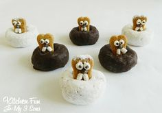 Groundhog Day Donuts...super easy & great for class parties!