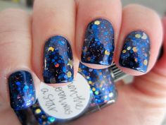 """a crazy-gorgeous mani from """"gomz"""" on the purseblog forum done with Lynnderella's new """"When the Moon was a Star"""""""