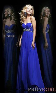 Strapless Floor Length Sherri Hill Dress 3904 at PromGirl.com  #prom #dress