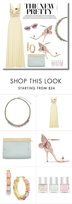 """""""Sorrelli Necklace"""" by majezy ❤ liked on Polyvore featuring Sorrelli, Notte by Marchesa, Loewe, Sophia Webster, Nine West, A-Morir by Kerin Rose and Nails Inc."""