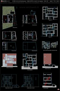 Double House, Utrecht Koningslaan (1995-97) | MVRDV | Archweb Autocad