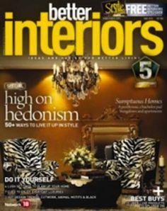 Better Interiors interior design magazine, home decorating magazine, shelter magazine, architecture magazine, lifestyle magazine