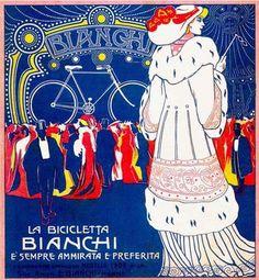 By Umberto Boccioni, 1 9 0 8, La bicicletta Bianchi.