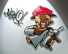 In his first big solo exhibition ICONS in the Kunst/Halle Heidelberg CanTwo shows interpretations of his icons such as Bodé, Disney or Uderzo. Graffiti Piece, Graffiti Drawing, Street Art Graffiti, Graffiti Characters, Graffiti Artists, Graffiti Wildstyle, Badass Drawings, Spray Can Art, Oldschool