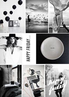 Digital black and white mood board inspiration created on www.sampleboard.com