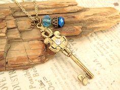 Royal Key Necklace by trinketsforkeeps on Etsy, $7.00