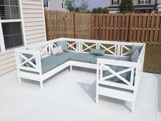 How to Build an Outdoor Sectional {Knock It Off} - East Coast ...