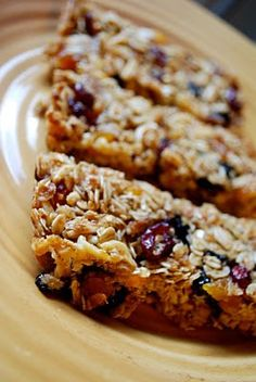 Ina Garten's Granola Bars - *So easy and so yummy. I used golden raisins instead of apricots. And chopped some whole almonds. * JC