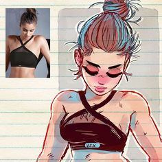 ✨ Fitness ✨ #art #drawing #sketch #fitness #cute #manga #warmth