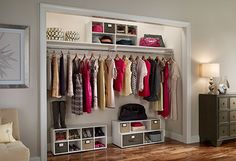Shirts carefully folded, shoes paired and pretty, dresses neat on the hanger—the closet of your dreams is closer than you think, thanks to these innovative organizing systems and additions from ClosetMaid.