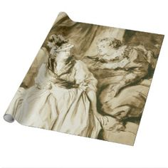 The Letter (Spanish Conversation) by Fragonard Gift Wrap