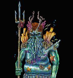 """Echa un vistazo a mi proyecto @Behance: """"Ulmo, lord of waters."""" https://www.behance.net/gallery/67570205/Ulmo-lord-of-waters"""
