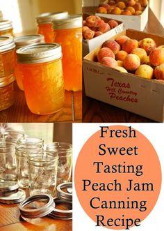 The Homestead Survival | Fresh Sweet Tasting Peach Jam Canning Recipe | http://thehomesteadsurvival.com