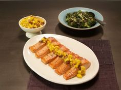 Glazed Salmon with Mango Pecan Salsa.  Rev Run's Sunday Suppers