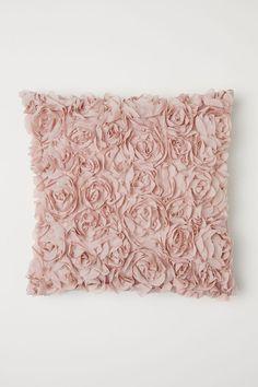Чехол на подушку с цветами - Светло-розовый - HOME | H&M RU 1