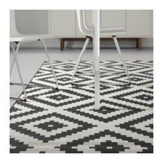 """$99. IKEA - LAPPLJUNG RUTA, Rug, low pile, 6 ' 7 """"x9 ' 10 """", , Ideal in your living room or under your dining table since the flat-woven surface makes it easy to pull out the chairs and vacuum."""