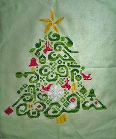 Tribal Tree - Cross Stitch Pattern
