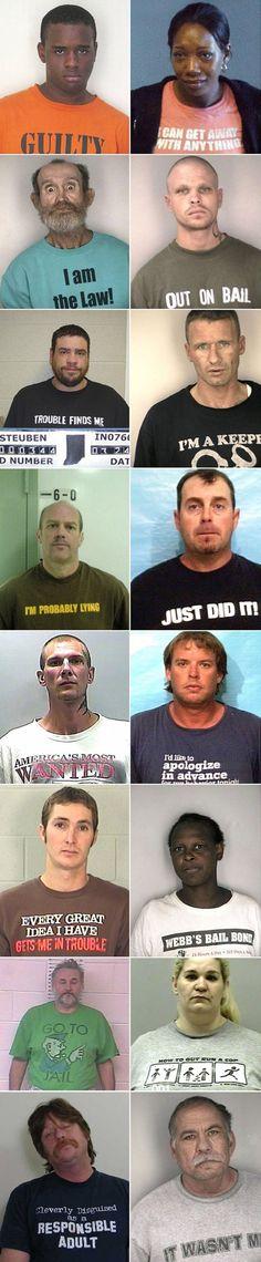 unfortunate t-shirts for mug shots