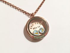 Pink Floyd Two Lost Souls Floating Charm Locket by MallEadornments