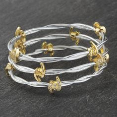 Set of 3 Barbed Wire Bangle Bracelets - Western Wear, Equestrian Inspired Clothing, Jewelry, Home Décor, Gifts